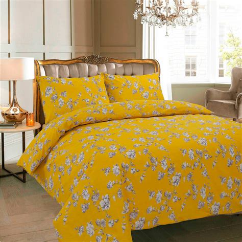 Coverlet Or Duvet by Floral Mustard Duvet Cover With Pillow Quilt Cover