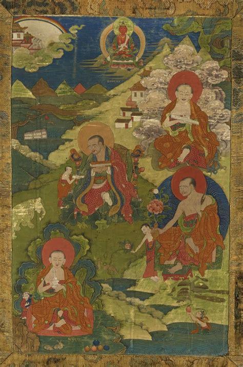 tibet alain r truong quatre arhat tibet ca 18 siècle alain r truong