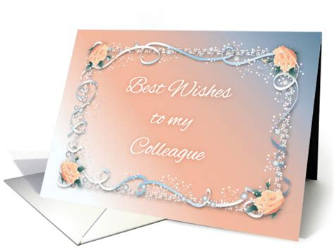 congrats colleagues marriage roses ribbon card