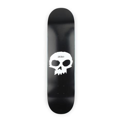 zero skateboards single skull 775 deck black 01
