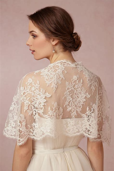 Elle And Jae Exclusively For Bhldn Chantilly Capelet In