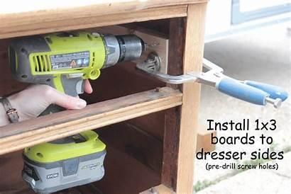 Drawer Slides Install Dresser Step