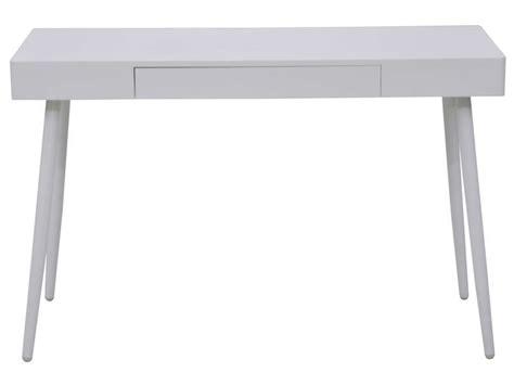 bureau 120cm bureau 120 cm oslo coloris blanc vente de bureau conforama