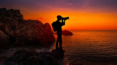photographer sunset  wallpapers hd wallpapers