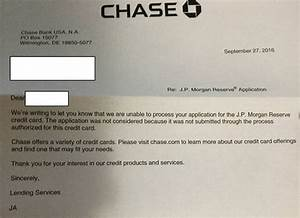 a reply from chase for jp morgan reserve applications With jp morgan business card