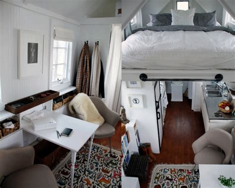 photos and inspiration inside small homes protohaus tiny house painted out inspiration for