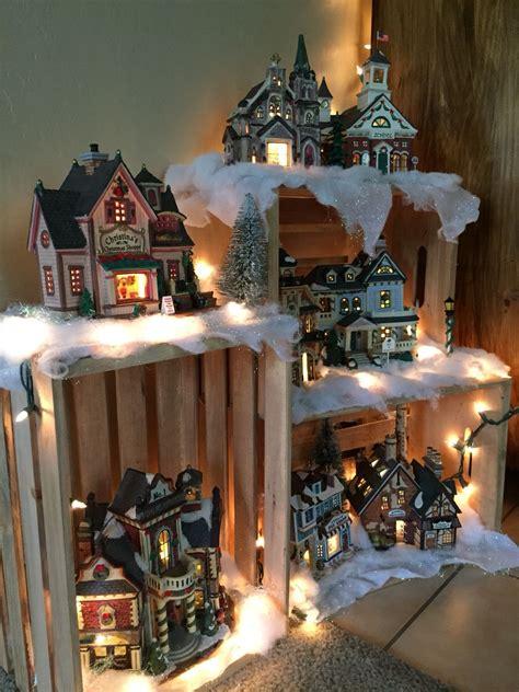 village display   crates christmas