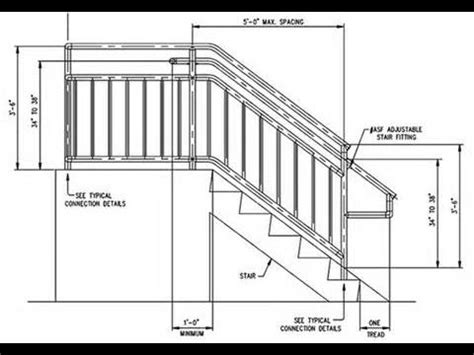 Height Of Banister On Stairs by Deck Stair Railing Measurements Deck Stair Railing Post