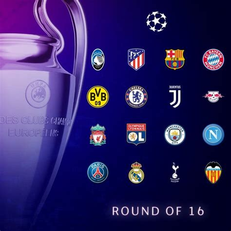 The final six uefa champions league group stage places will be filled on tuesday and wednesday. Sorteggio ottavi di finale Champions League 2019-2020 ...