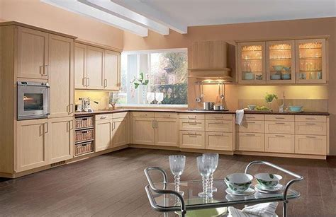 modeles de cuisine avec ilot central déco cuisine chene clair