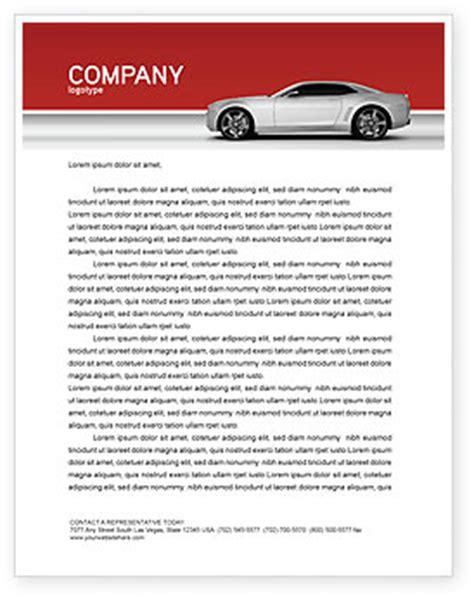 supercar letterhead template layout  microsoft word