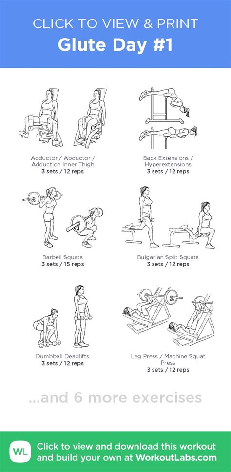 glute day  click  view  print  illustrated