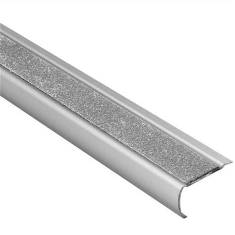 Stair Nosing For Tile Home Depot by Schluter Trep Gk S Brushed Stainless Steel Transparent 1