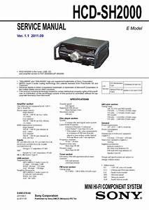 Hcd Sh2000  Service Manual  Repair Schematics