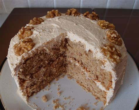 It is often found on dessert menus and afternoon tea trays in the uk. The Caked Crusader: Coffee and walnut cake - a birthday cake