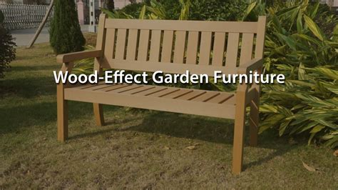 wood effect composite garden furniture wood effect