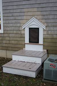 10 options of dog doors interior exterior ideas for Dog door steps