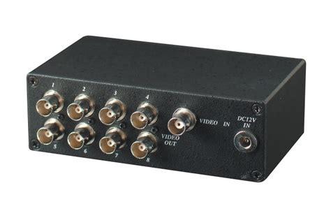 ingresso composito distributore di segnale composito 1 ingresso bnc e 8