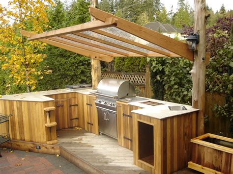 outdoor kitchen roof outdoor kitchen ideas patio traditional with bbq cedar clear roof backyard pinterest