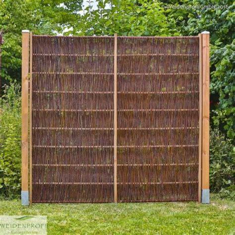 Sichtschutz Garten Weidenzaun by Weidenzaun Lato Solid Mit Seitlichem Rahmen Weidenz 228 Une