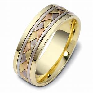 men39s braided two tone gold band 296 With mens braided wedding ring