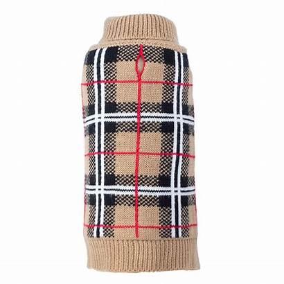 Sweater Dog Plaid Worthy Tan Sweaters Baxterboo