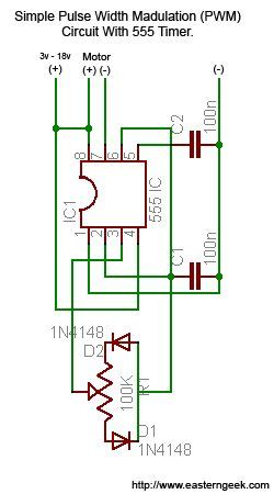 simple and pulse width modulation pwm with 555 timer 3 steps