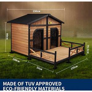 Xxl outdoor wooden waterproof 2 door dog kennel buy wood for 2 door outdoor dog kennel