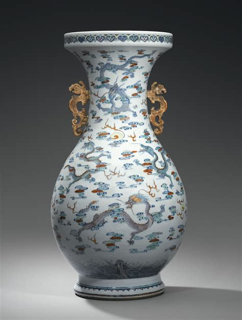 massive doucai porcelain vase china qing dynasty