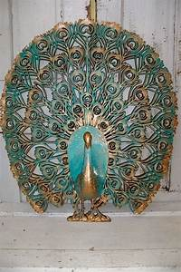 large peacock vintage crested burwood wall decor wall With peacock wall decor