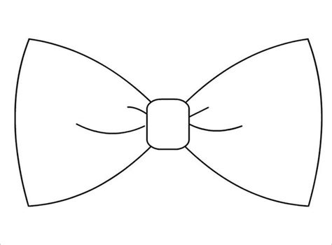 Template Of A Bow by 9 Printable Tie Templates Doc Pdf Free Premium