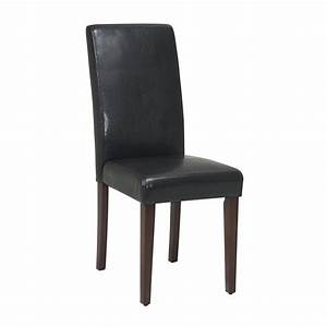 metro parsons dining chair mocha brown faux leather With leather parsons dining room chairs