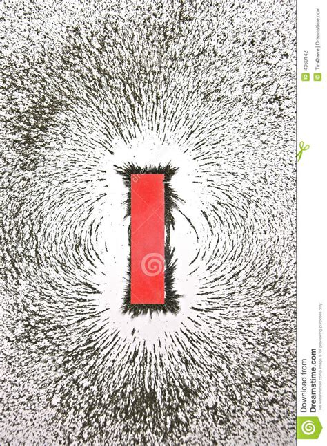 magnetic field pattern stock photography image