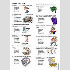 Vocabulary Test Worksheet  Free Esl Printable Worksheets Made By Teachers