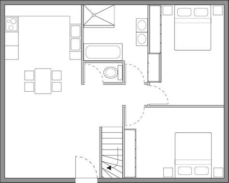 les chambres d une maison plan d une maison simple