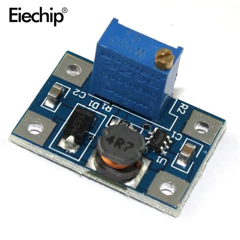 5pcs large current 2a dc dc sx1308 step up adjustable power module boost converter in integrated
