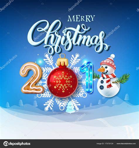 merry christmas 2018 decoration poster card stock vector 169 deedman 173733124