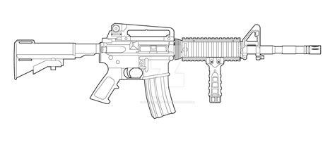 Colt M4 Lineart By Masterchieffox On Deviantart