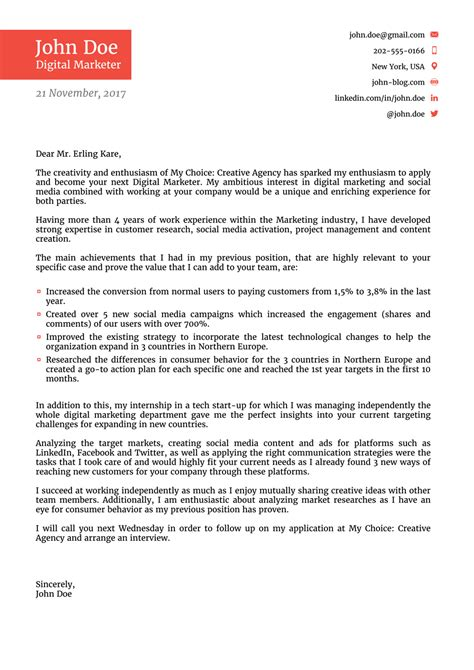 The Best Cover Letter Template by Elevator Pitch Letter Application Letter Cover