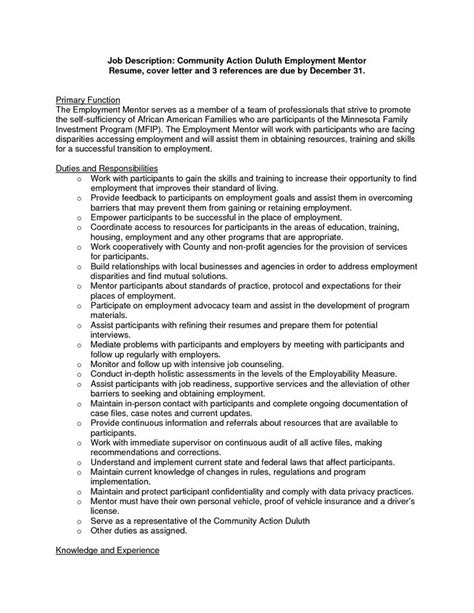 community outreach resume sample community action
