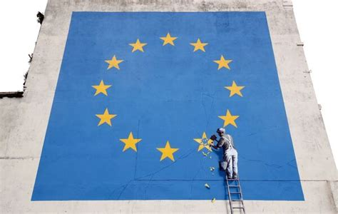 Banksy Brexit mural painted over