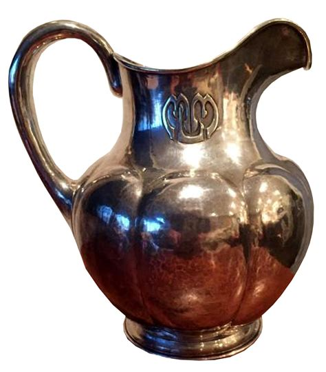 kalo shops sterling silver water pitcher  modernism