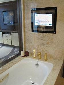 Sinks in the bathroom picture of fairmont beijing for Can you put a tv in the bathroom