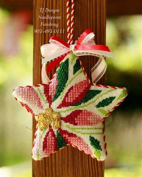 needlepoint star ornamentfinishing  tj designs