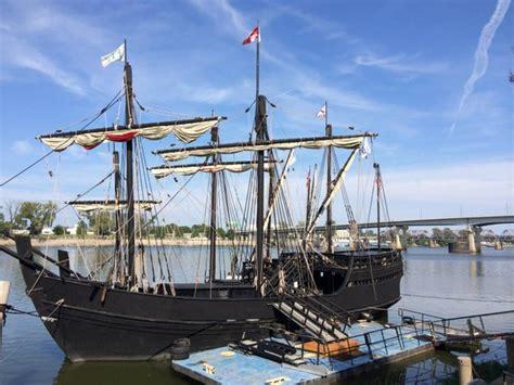 Columbus Speed Boat by Pinta Ships Dock In Lr