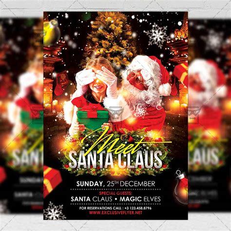 meet santa seasonal  flyer template exclsiveflyer