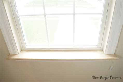 window sill how to replace an interior window sill two purple couches