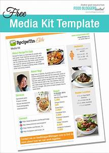 media kit template free food bloggers central With online media kit template