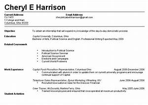 Resume Builder No Work Experience First Resume Task List Templates