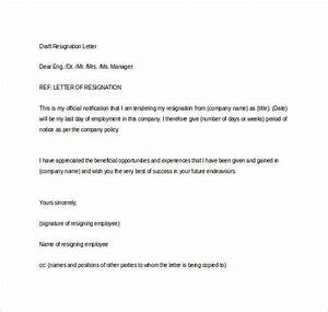 41 Formal Resignation Letters to Download for Free Sample Templates